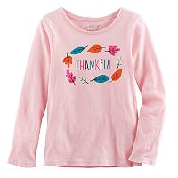 Girls 4-10 Jumping Beans® Long-Sleeved Thanksgiving Tee