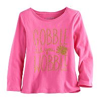 Toddler Girl Jumping Beans® Thanksgiving Glittery Graphic Tee