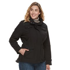 Plus Size MO-KA Hooded Soft Shell Anorak Jacket