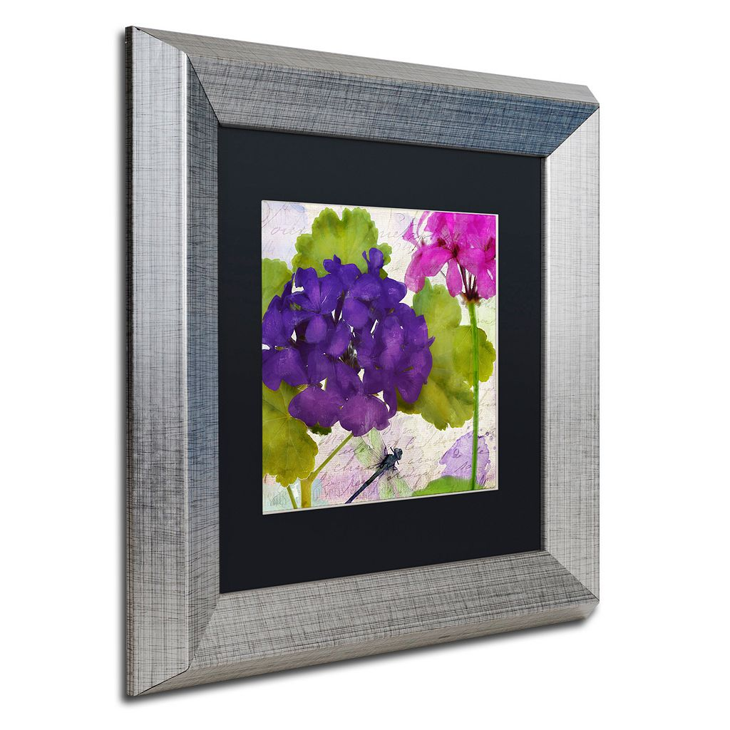 Trademark Fine Art Gaia I Silver Finish Framed Wall Art