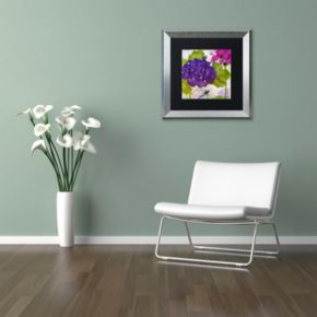 Trademark Fine Art Gaia I Silver Finish Framed Wall Art