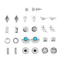 Love Knot, Bird & Vine Stud Earring Set