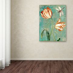 Trademark Fine Art Tulips Ablaze I Canvas Wall Art