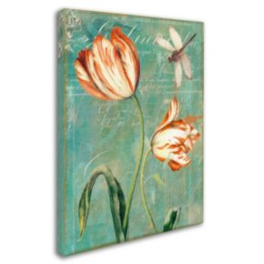 Trademark Fine Art Tulips Ablaze I Canvas Wall Art