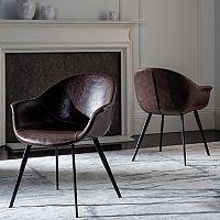 Safavieh Dublin Faux-Leather Tub Accent Chair 2 pc Set