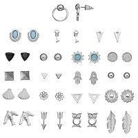Arrow, Owl, Bird & Hamsa Nickel Free Stud Earring Set