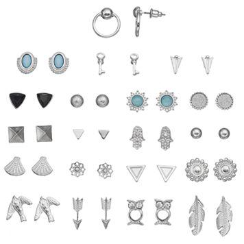 Arrow, Owl, Bird & Hamsa Nickel Free Stud Earring Set