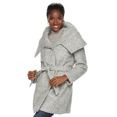 Women's MO-KA Envelope Collar Wool Blend Wrap Coat