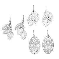 Mudd® Filigree Oval & Leaf Drop Earring Set