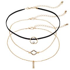Geometric Choker Necklace Set