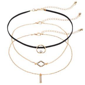 Geometric Choker Necklace Set