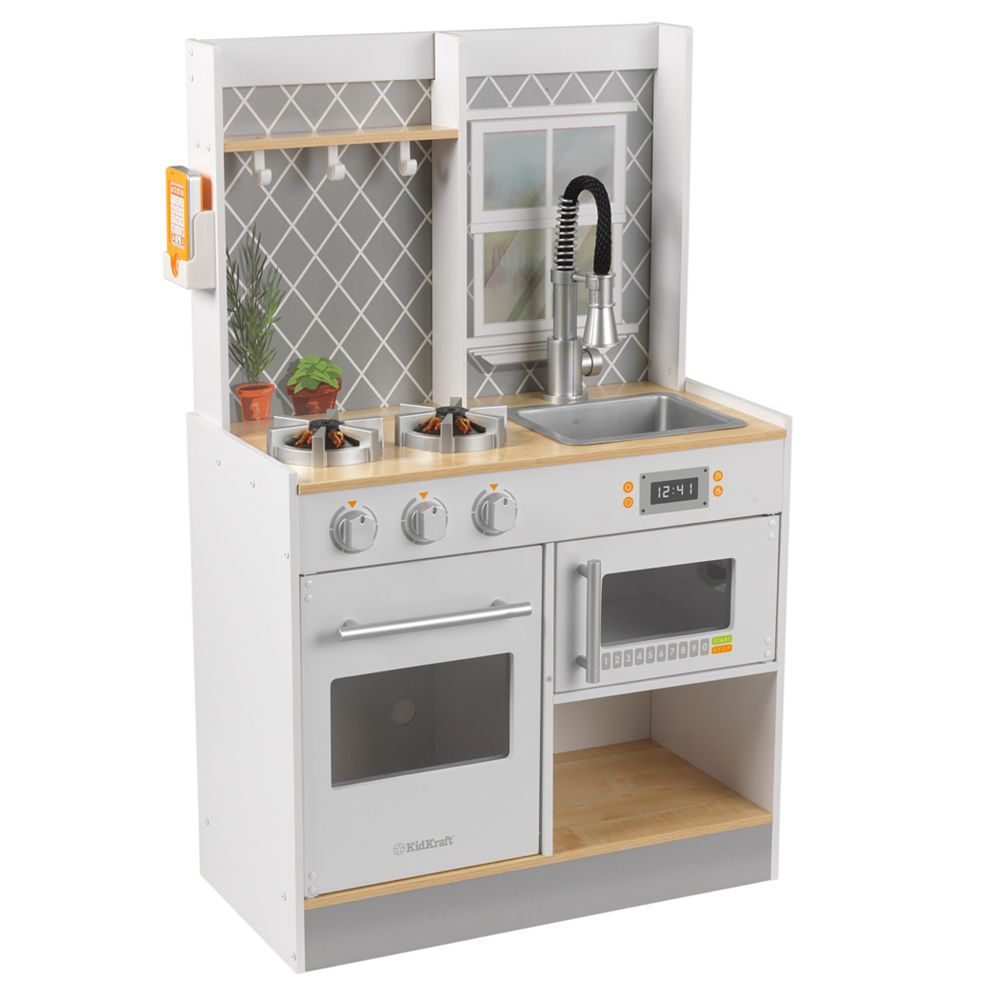 this kidkraft play kitchen is great for both girls and boys its made ...