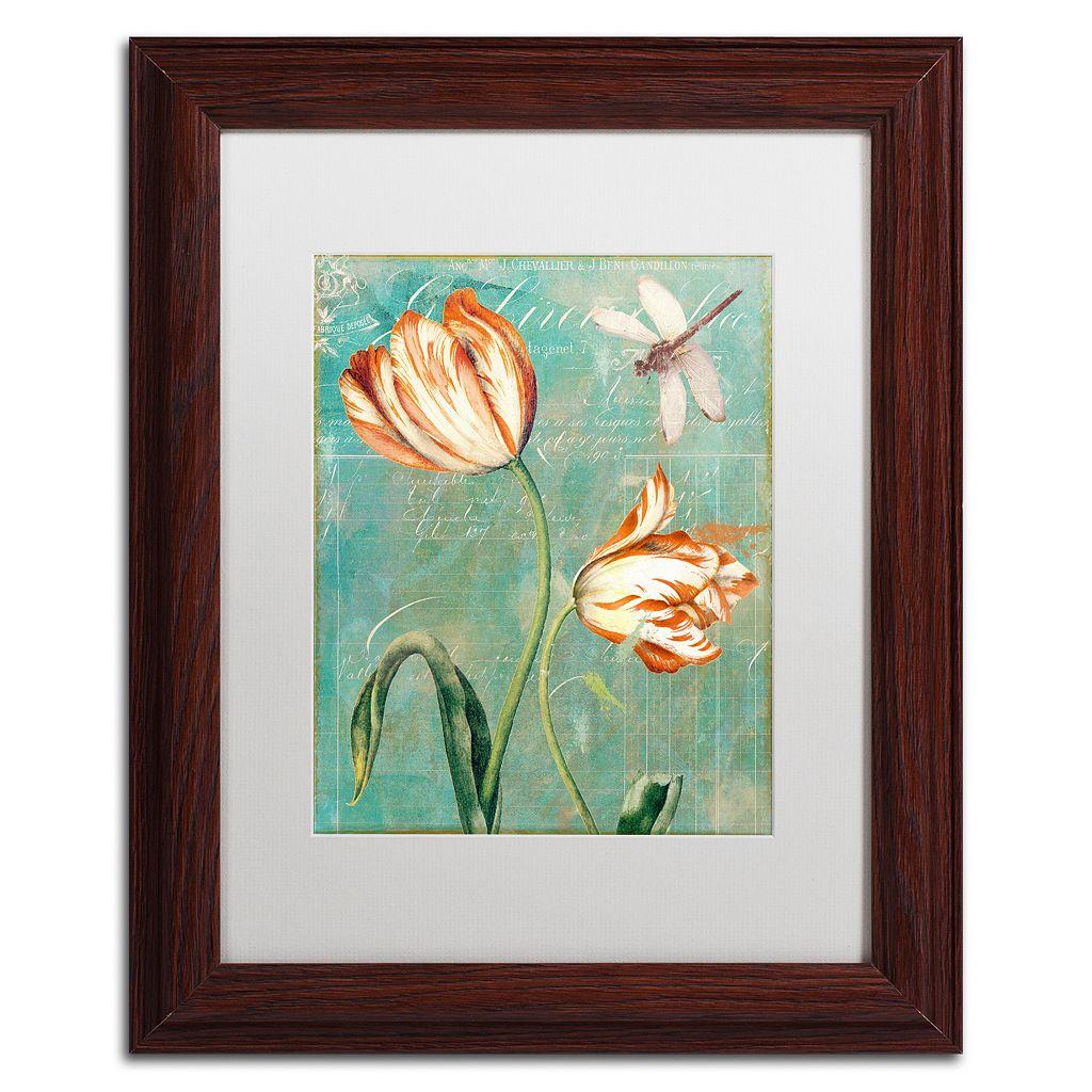 Trademark Fine Art Tulips Ablaze I Framed Wall Art