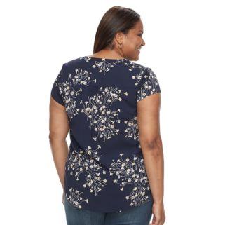 Plus Size Croft & Barrow® Printed Woven Top