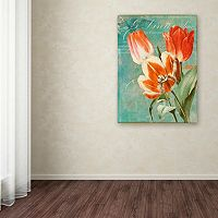 Trademark Fine Art Tulips Ablaze II Canvas Wall Art
