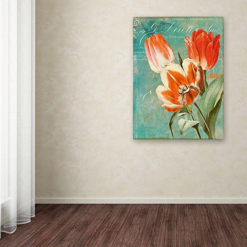 Trademark Fine Art Tulips Ablaze II Canvas Wall Art, Orange