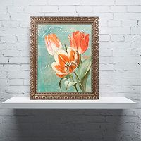 Trademark Fine Art Tulips Ablaze II Ornate Framed Wall Art