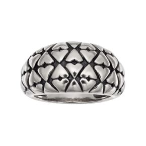 Adora Sterling Silver Textured Dome Ring