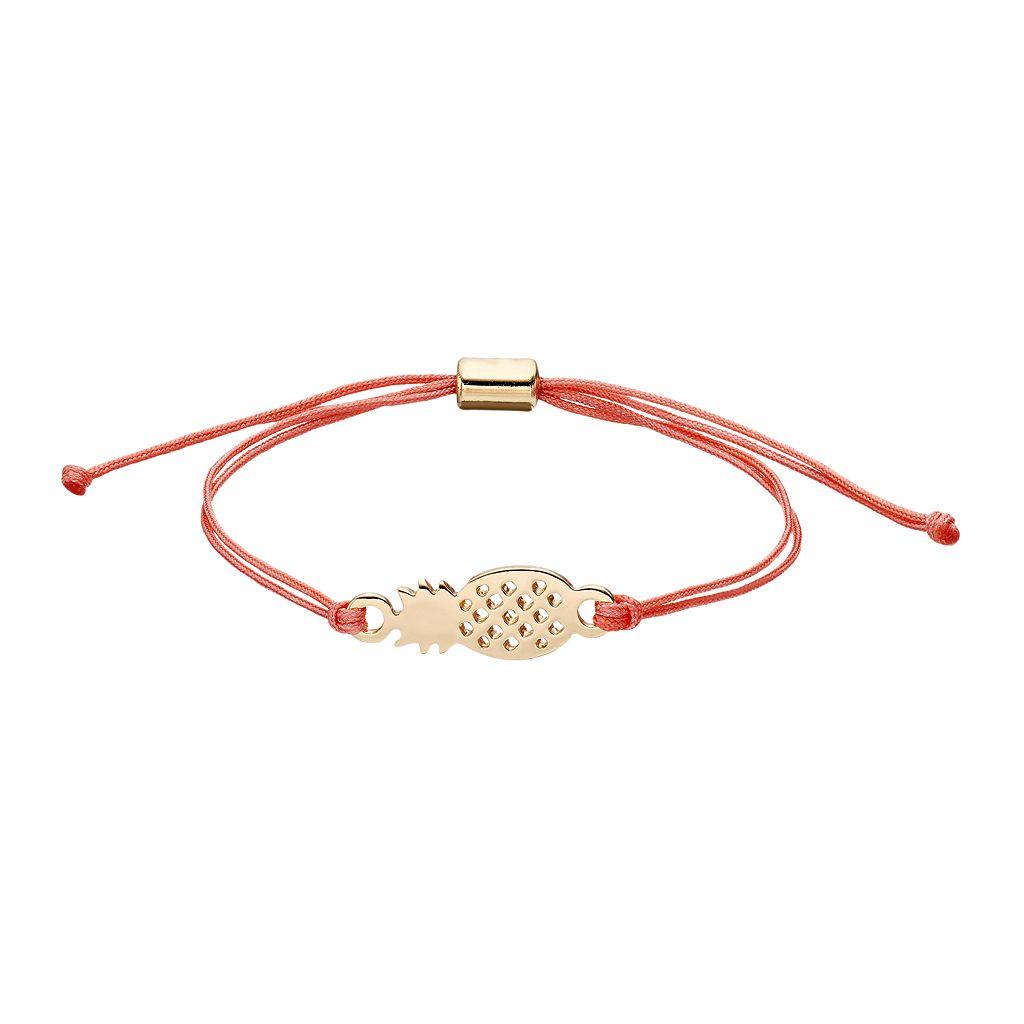 LC Lauren Conrad Pineapple Pink Cord Bracelet
