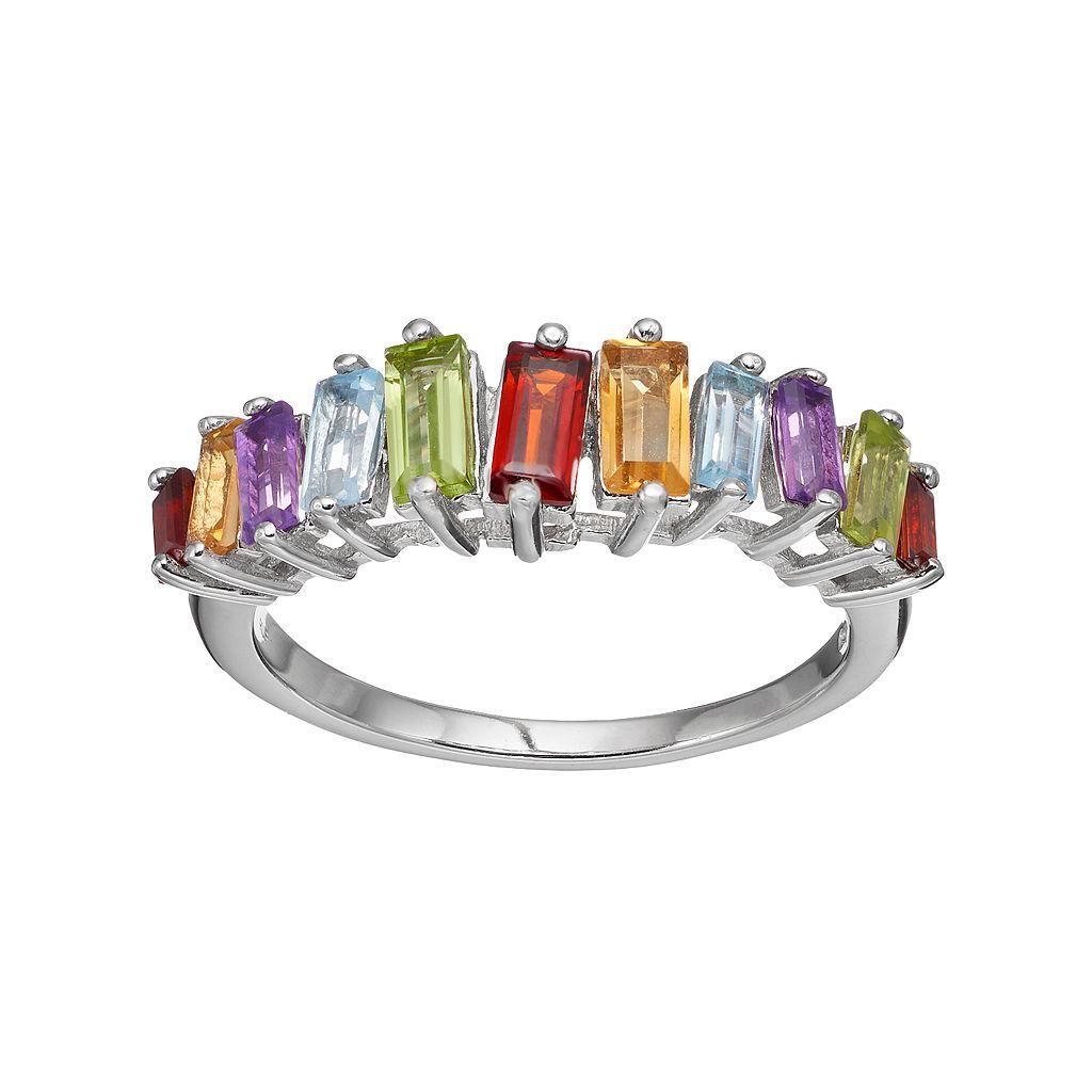 Adora Sterling Silver Gemstone Ring