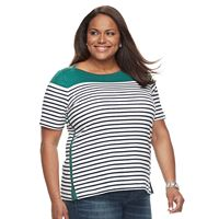 Plus Size Croft & Barrow® Striped Boatneck Tee