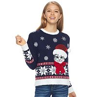 Juniors' It's Our Time Fairisle Sweater