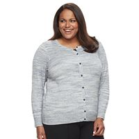 Plus Size Croft & Barrow® Essential Cardigan