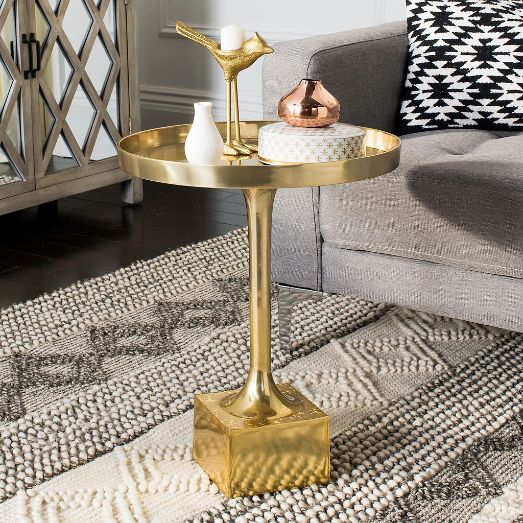 Safavieh Corvus Tray Top Round End Table
