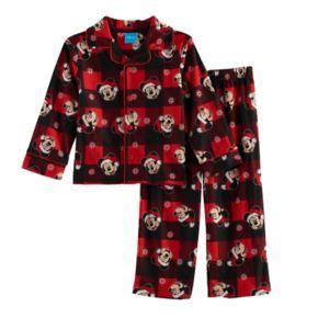 Disney's Mickey Mouse Toddler Boy 2-pc.Checked Pajama Set