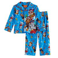 Toddler Boy Paw Patrol 2 pc Snow & Sleds Rubble, Marshall & Chase Pajama Set