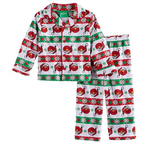 Toddler Boy Sesame Street 2 Pc Elmo Pajama Set