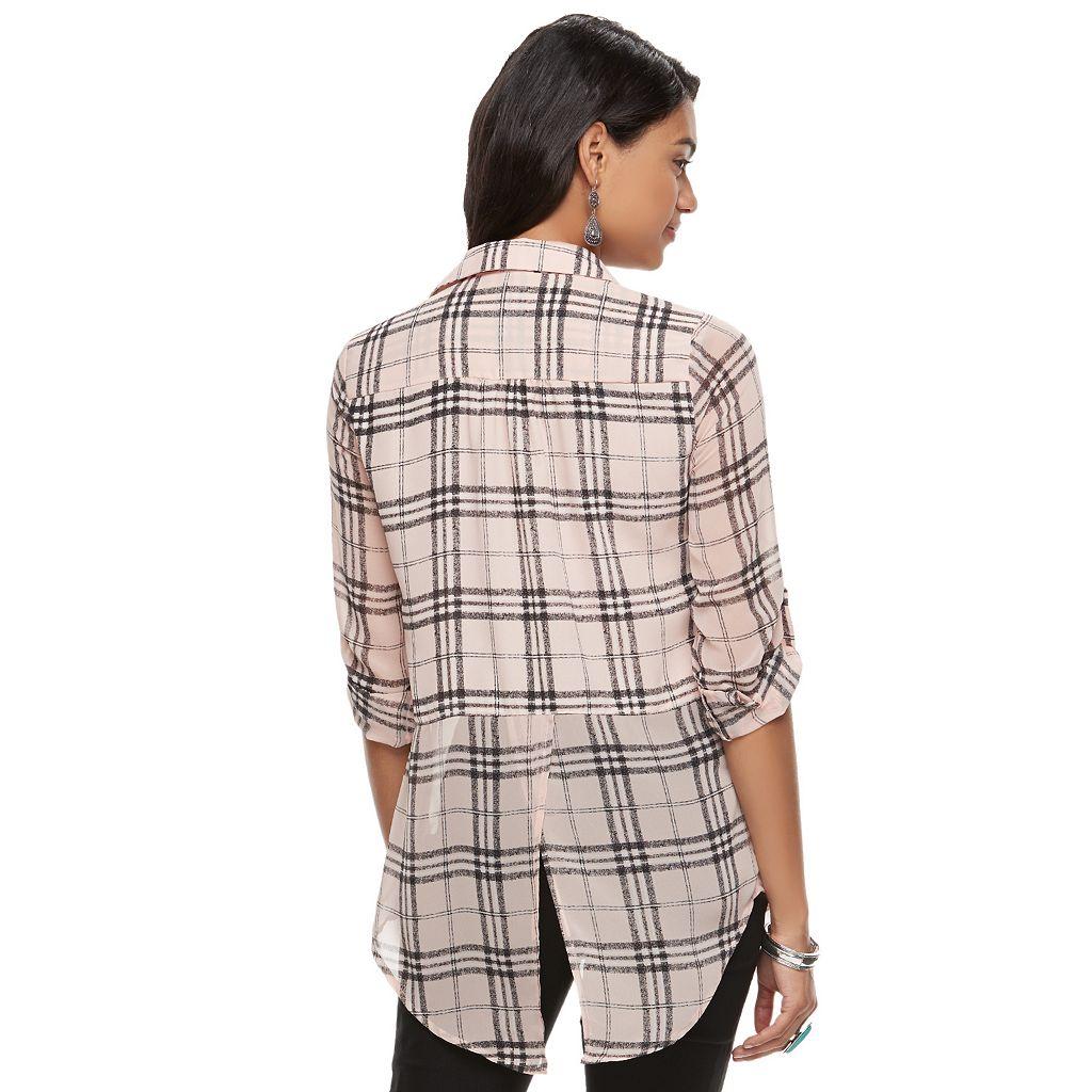 Juniors' Candie's® Roll-Tab Shirt