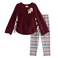 Girls 4-6X Little Lass 2-pc. Legging Set