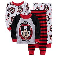 Disney's Mickey Mouse Toddler Boy 4 pc Pajama Set