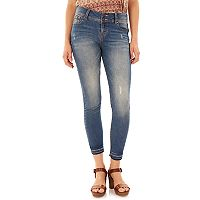 Juniors' Wallflower Release Hem Ultra Skinny Jeans