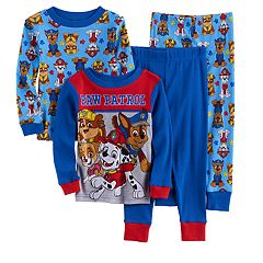 Toddler Boy Paw Patrol Rubble, Chase, Marshall & Skye 4 pc Pajama Set