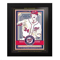 Washington Nationals Bryce Harper Frame Wall Art