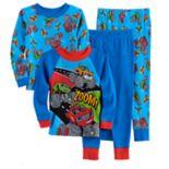 Toddler Boy Blaze & The Monster Machines Stripes, Zag & Blaze 4-pc. Pajama Set