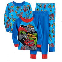 Toddler Boy Blaze & The Monster Machines Stripes, Zag & Blaze 4 pc Pajama Set