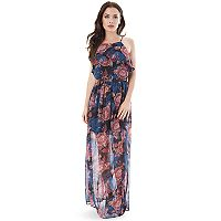 Juniors' IZ Byer High Neck Maxi Dress