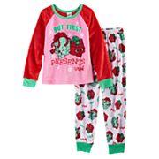 Girls 4-12 Present Pajama Set