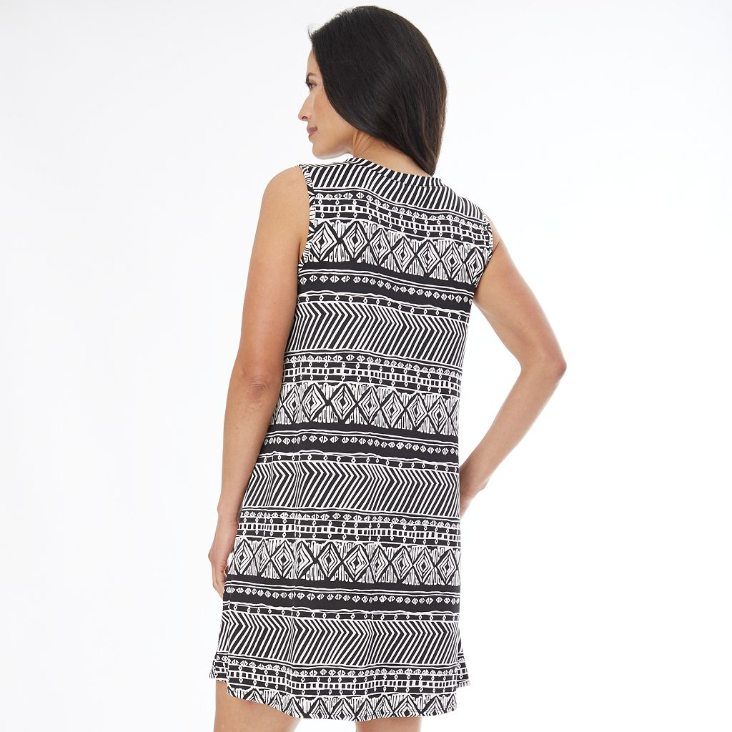 Women's AB Studio Print Textured Shift Dress