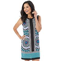 Women's AB Studio Print Textured Shift Dress