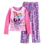 "Girls 4-8 My Little Pony Rainbow Dash, Pinkie Pie & Twilight Sparkle ""Hello Adventure"" Tee & Bottoms Pajama Set"