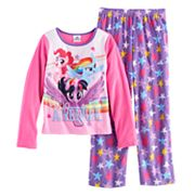 Girls 4-8 My Little Pony Rainbow Dash, Pinkie Pie & Twilight Sparkle 'Hello Adventure' Tee & Bottoms Pajama Set