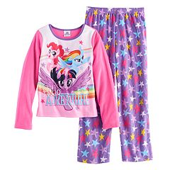 Girls 4-8 My Little Pony Rainbow Dash, Pinkie Pie & Twilight Sparkle 'Hello Adventure' Tee & Bottoms Pajama Set