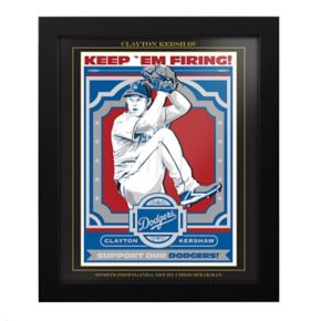 Los Angeles Dodgers Clayton Kershaw Framed Wall Art