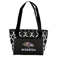 Logo Brand Baltimore Ravens Quatrefoil 16-Can Cooler Tote