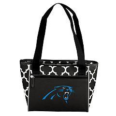 Logo Brand Carolina Panthers Quatrefoil 16-Can Cooler Tote