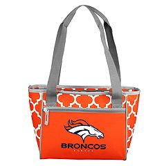 Logo Brand Denver Broncos Quatrefoil 16-Can Cooler Tote